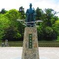 京都の穴場154 光秀と亀岡①明智光秀公の像(亀岡市)