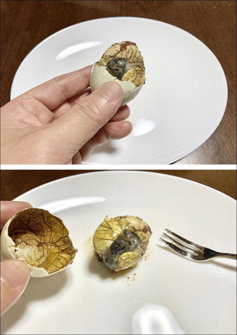 【バロット】~balut~ミスティック・エッグ!フィリピン珍品料理☆アヒル卵☆上野地下食品街8