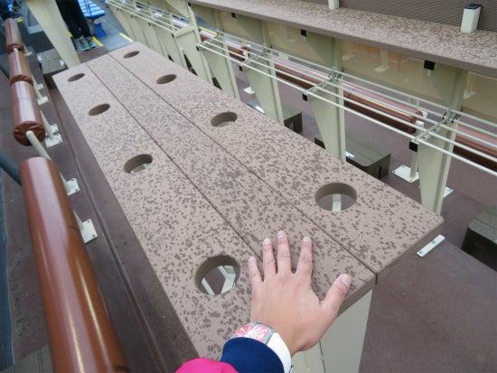 神宮球場 ハイネケンパーティーデッキ テーブル