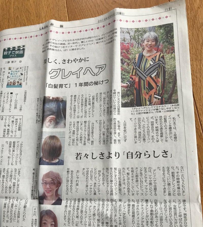 グレイヘア 朝倉真弓 新聞記事