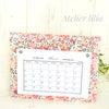 リバティの可愛いカレンダーとパスケース(会員様カルトナージュ作品)の画像