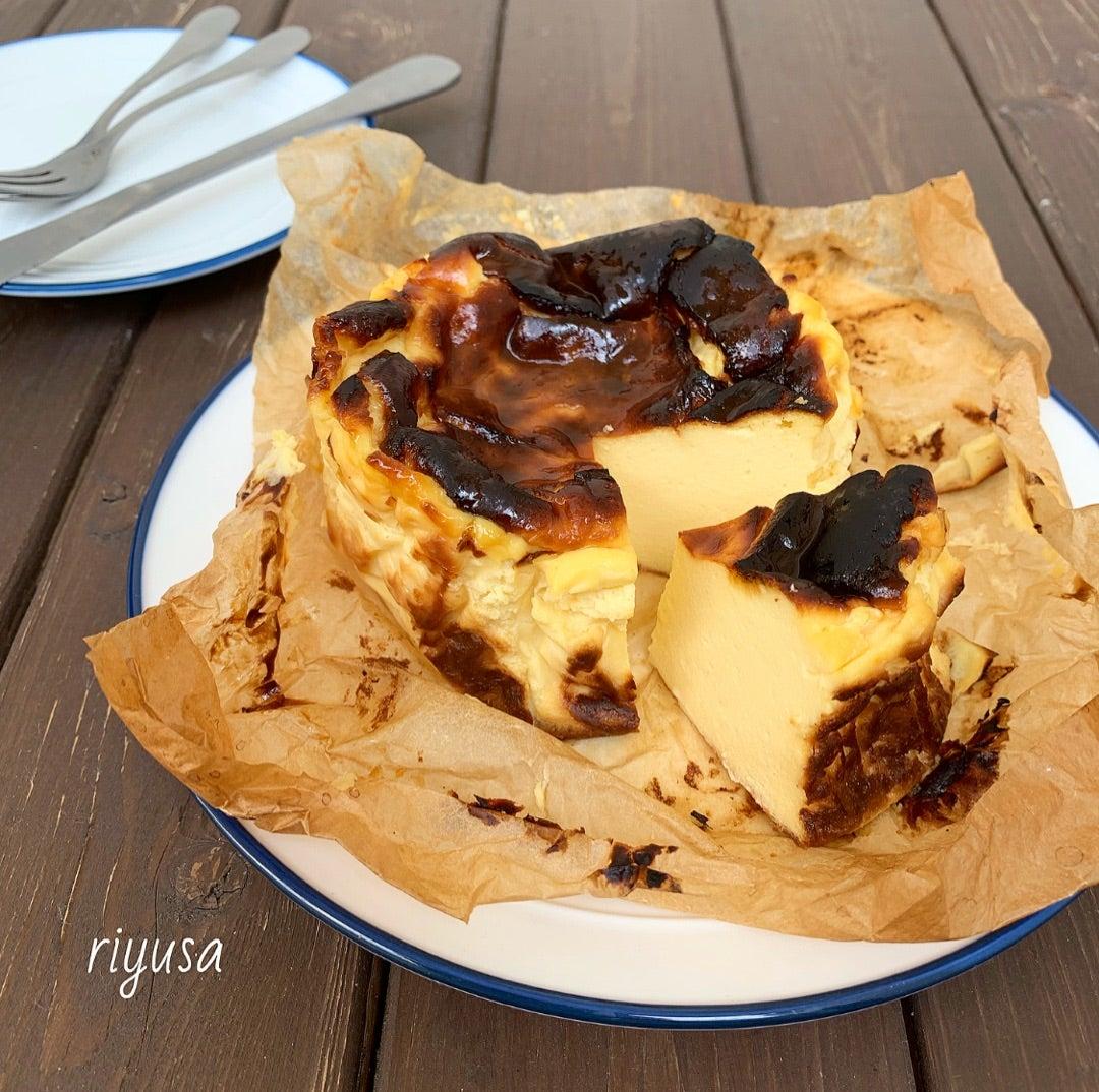改良版レシピ】大人気のバスクチーズケーキ
