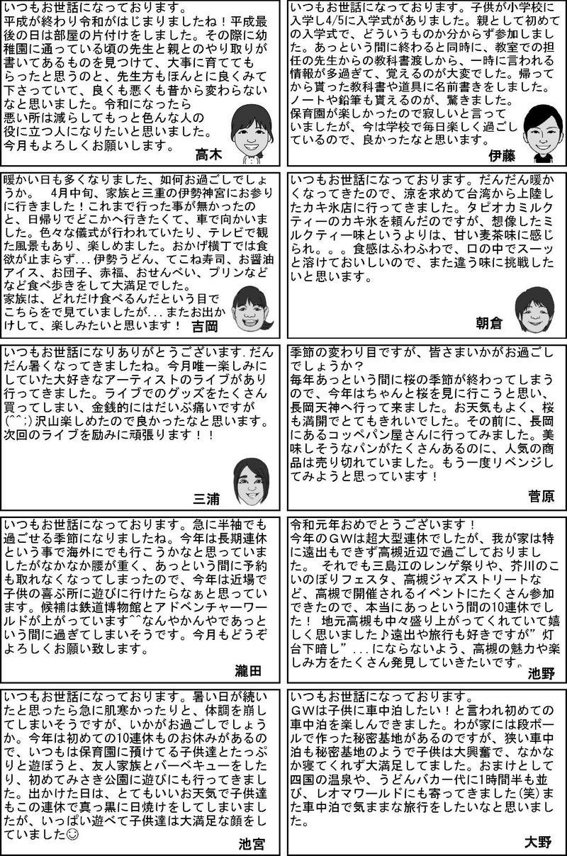 さんきゅー本社(高槻)スタッフ近況
