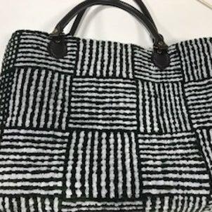 猫ちゃんのシェニール織りバッグ他の画像