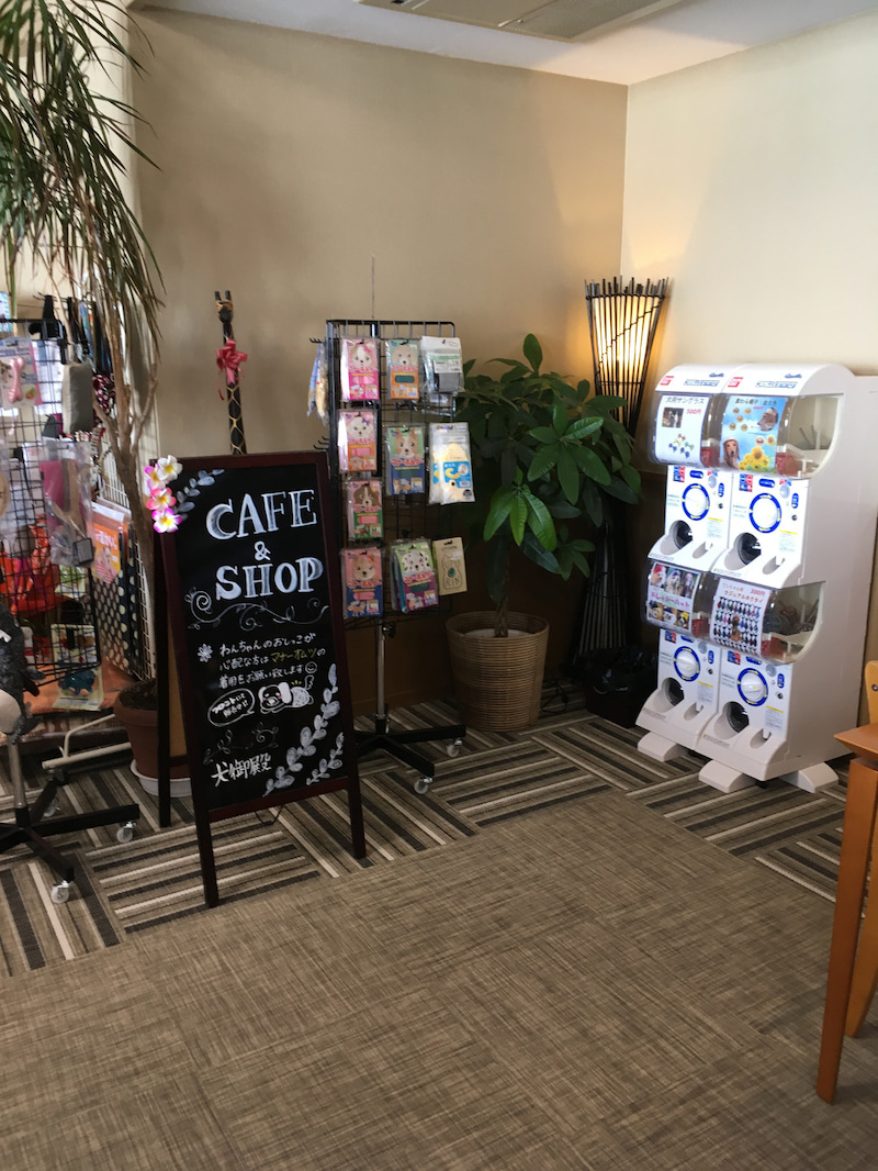 和歌山県 犬御殿さんのドッグカフェにガチャガチャ設置!