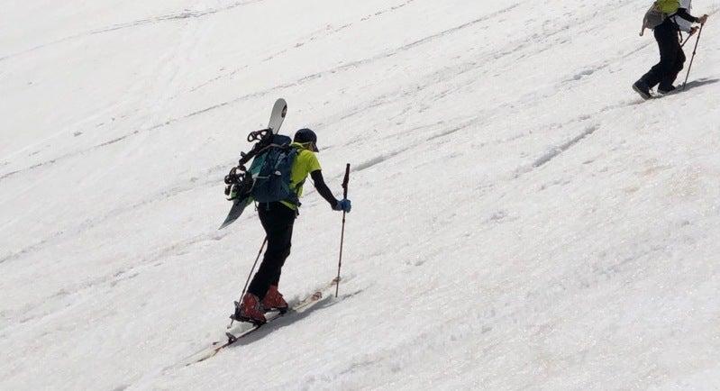 乗鞍岳滑走と飛ぶライチョウ 2019.5.18