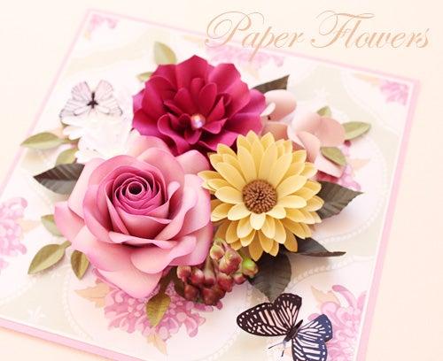 前田京子のペーパーフラワーのカード