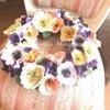 クレイで作るリースと押し花の箸置きの画像