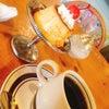 プリン、ケーキ、ハンバーグ&海老フライランチ。の画像