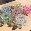 大人気‼️蓮の花クリスタルガラス‼️今回は6色‼️スピリチュアルカウンセラー片山鶴子ユタ、新御徒町