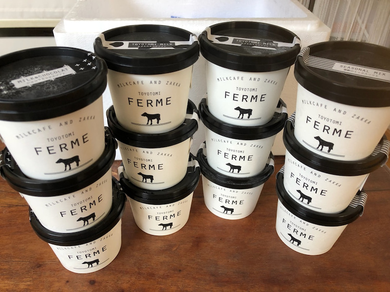 お取り寄せ(楽天) 北海道 ふるさと納税 L-01 とよとみ牛乳ソフトクリーム 3種類合計12個 価格10,000円