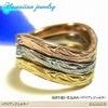 ハワイアンジュエリー リング 指輪 ステンレス プリメリア カレイキニ スクロールの画像