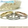 ハワイアンジュエリー ステンレスリング/指輪 プリメリア カレイキニ スクロール ハートの画像