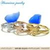 ハワイアンジュエリー ステンレスリング 指輪 イエローゴールド ピンクゴールド マリッジリングの画像