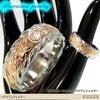ハワイアンジュエリー ステンレスリング 指輪 ピンクゴールド マリッジ 結婚指輪の画像