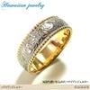 ハワイアンジュエリー ステンレスリング 指輪 イエローゴールド マリッジ 結婚指輪の画像
