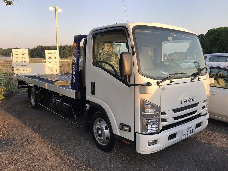 いすゞ エルフ 積載車 極東開発工業 フラトップ