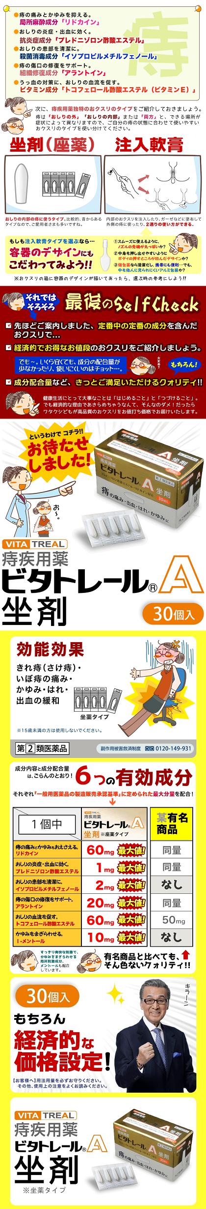 ビタトレールA坐剤の商品説明②