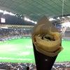 野球観戦と わらび餅あずきクレープの画像