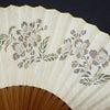 扇子2019・婦人用3種|日本的で趣のある親骨の絹張り扇子|桜、菊、朝顔|海外ギフトにもおすすめの画像