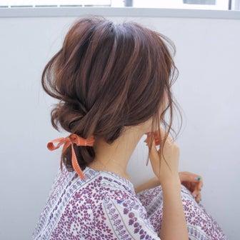 リボンで愉しむプレイフルバン hair arrange & hair set