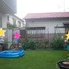お庭でバーベキュー&水遊びの画像