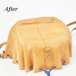 画像 イルビゾンテのヌメ革バッグにできたシミを消す方法。 の記事より 8つ目