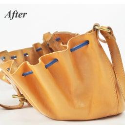 画像 イルビゾンテのヌメ革バッグにできたシミを消す方法。 の記事より 10つ目