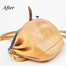 画像 イルビゾンテのヌメ革バッグにできたシミを消す方法。 の記事より 6つ目
