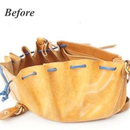 画像 イルビゾンテのヌメ革バッグにできたシミを消す方法。 の記事より 9つ目