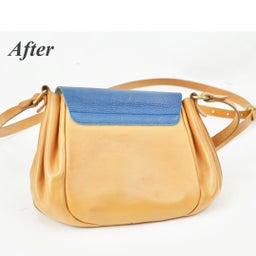 画像 イルビゾンテのヌメ革バッグにできたシミを消す方法。 の記事より 4つ目
