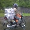 バイクでどれだけ荷物を運べるか選手権♪の画像