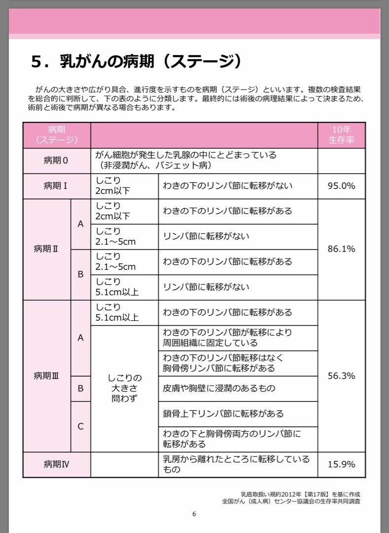 ステージ 2b 乳がん 乳がんのステージを知ることの重要性
