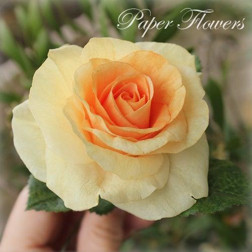 前田京子のウエハーペーパーフラワー、ペーパーフラワーのバラ