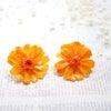 ジニア♥本物お花のピアス♥浴衣にあわせて♡ユキフローリストの画像