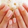 自爪をガリガリ削らないカルジェル☆夏のシンプルオフィスネイル♡ラメグラ&シェルの画像