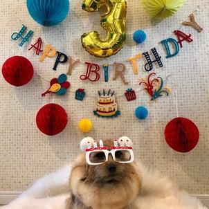 3歳と9歳のお誕生日の画像
