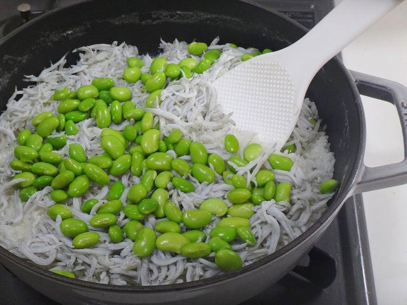 釜揚げしらすのふっくら枝豆ごはん