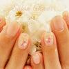夏におすすめの涼し気なシェルストーンアート♡自爪に優しいジェルネイルの、シンプルオフィスネイルの画像