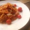 和洋中のトマトパスタの画像
