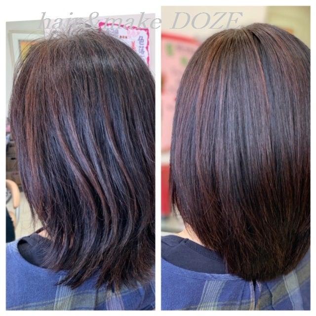 長年、蓄積したダメージと年齢によるダメージも髪質改善プレミアムトリートメントで!
