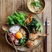 マグロ山かけ納豆オクラ丼と今日のお弁当