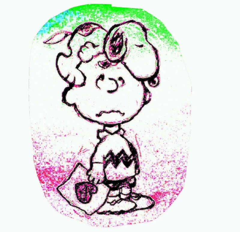 癒しのスヌーピーイラスト その404鉛筆画 チャーリーブラウンの