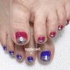 トレンドフットネイル♡apple nail アップルネイルの画像