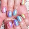 トロピカルレインボーネイル♡apple nail アップルネイルの画像
