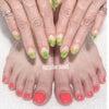 手と足ジェルブリーディングインク✨apple nailの画像