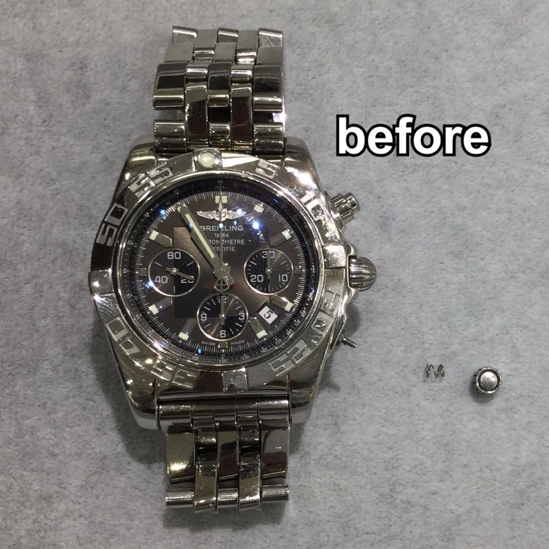watch 8fa94 7ed05 ブライトリング プッシュボタン取れ修理 & オーバーホール ...