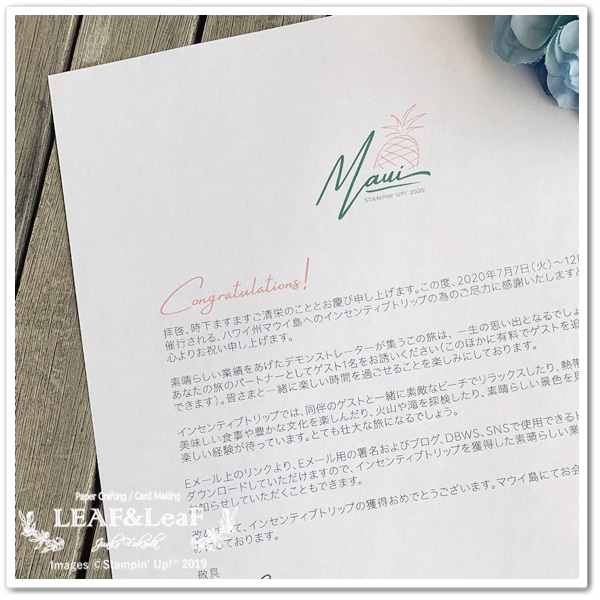 嬉しいお手紙が届きました。これは夢なの?奇跡なの?!の記事より