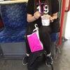 ロンドンより 地下鉄でおうどん食べてますよ〜(笑)の画像