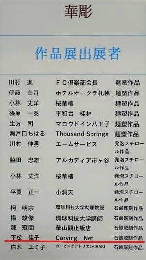 作品展出展者一覧02